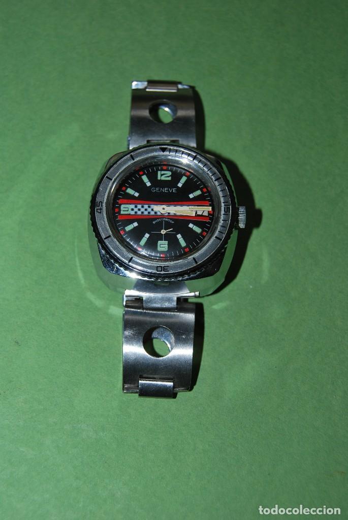 Relojes de pulsera: RELOJ DE PULSERA - CUERDA - GENEVE - CORREA DE ACERO - RALLY - FORMULA 1 - AÑOS 60-70 - Foto 2 - 113226711