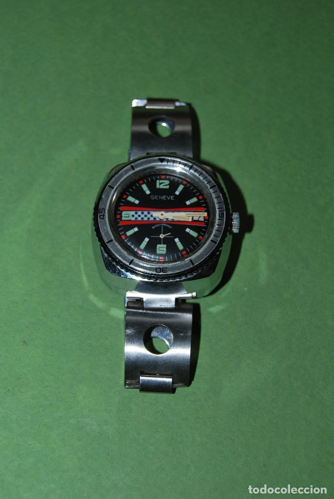 Relojes de pulsera: RELOJ DE PULSERA - CUERDA - GENEVE - CORREA DE ACERO - RALLY - FORMULA 1 - AÑOS 60-70 - Foto 3 - 113226711