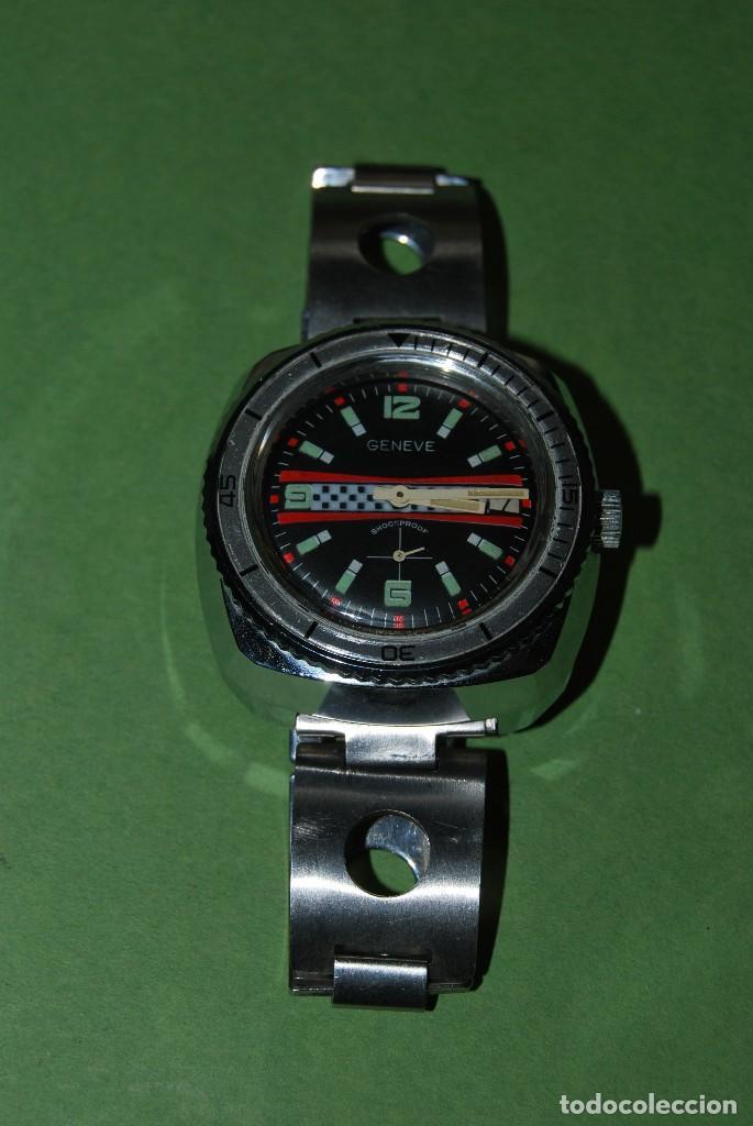 Relojes de pulsera: RELOJ DE PULSERA - CUERDA - GENEVE - CORREA DE ACERO - RALLY - FORMULA 1 - AÑOS 60-70 - Foto 4 - 113226711