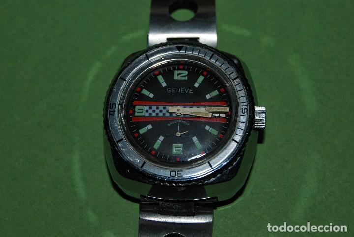 Relojes de pulsera: RELOJ DE PULSERA - CUERDA - GENEVE - CORREA DE ACERO - RALLY - FORMULA 1 - AÑOS 60-70 - Foto 5 - 113226711
