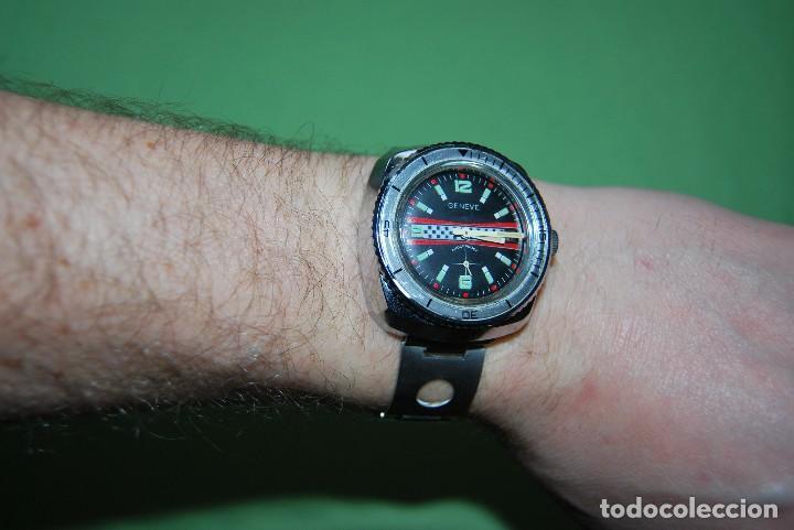 Relojes de pulsera: RELOJ DE PULSERA - CUERDA - GENEVE - CORREA DE ACERO - RALLY - FORMULA 1 - AÑOS 60-70 - Foto 7 - 113226711