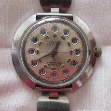 Relojes de pulsera: RELOJ DE CUERDA ANTIGUO RARO PUBLICIDAD BODEGAS DOMECQ N1. Lote 113438459