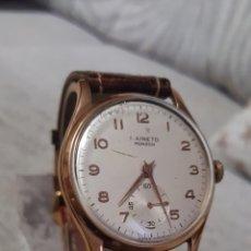 Relojes de pulsera: RELOJ SWSS I.AINETO MONZÓN 17RUVIS CHAPADO 10MICRAS ORO DE CUERDA DIAMETRO 38MILITRS. Lote 112635987