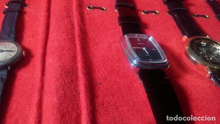 Relojes de pulsera: Botita cartera con reloj de cuerda Olma,los otros 7 relojes de cuerda que contiene se regalan - Foto 21 - 113733395