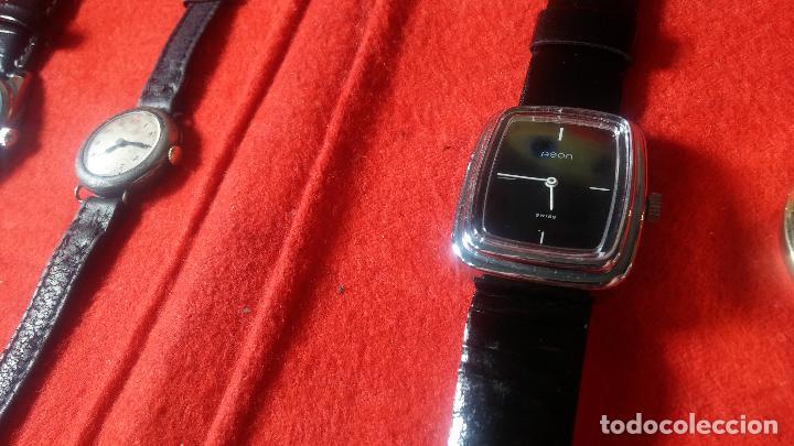Relojes de pulsera: Botita cartera con reloj de cuerda Olma,los otros 7 relojes de cuerda que contiene se regalan - Foto 26 - 113733395