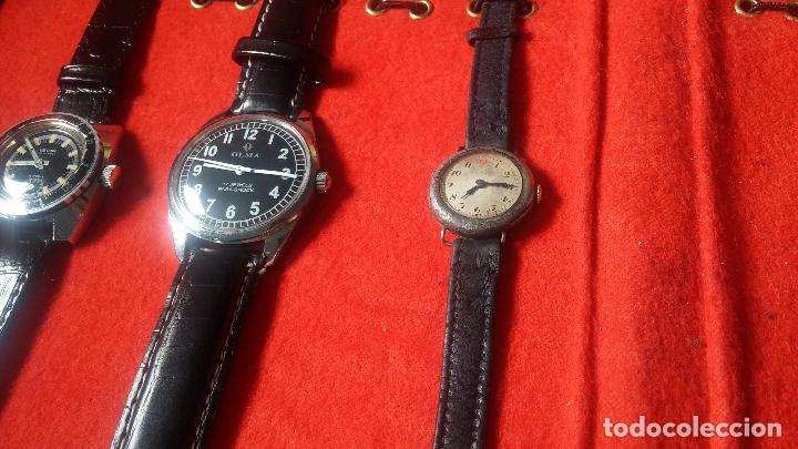 Relojes de pulsera: Botita cartera con reloj de cuerda Olma,los otros 7 relojes de cuerda que contiene se regalan - Foto 33 - 113733395