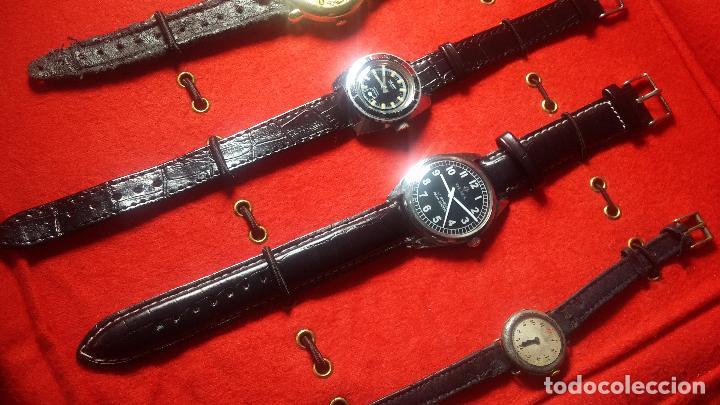 Relojes de pulsera: Botita cartera con reloj de cuerda Olma,los otros 7 relojes de cuerda que contiene se regalan - Foto 67 - 113733395