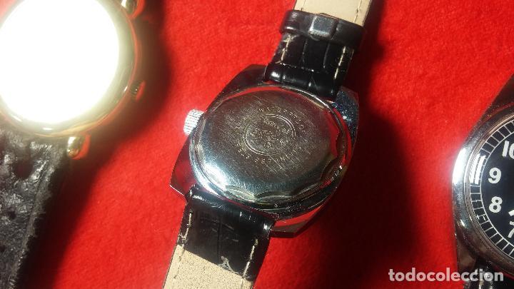 Relojes de pulsera: Botita cartera con reloj de cuerda Olma,los otros 7 relojes de cuerda que contiene se regalan - Foto 71 - 113733395