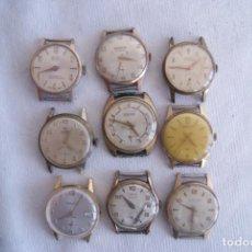 Relojes de pulsera: LOTE DE 9 RELOJES MECANICOS CLASICOS CHAPADOS EN ORO SAVAR, LANCO... C13. Lote 194366410