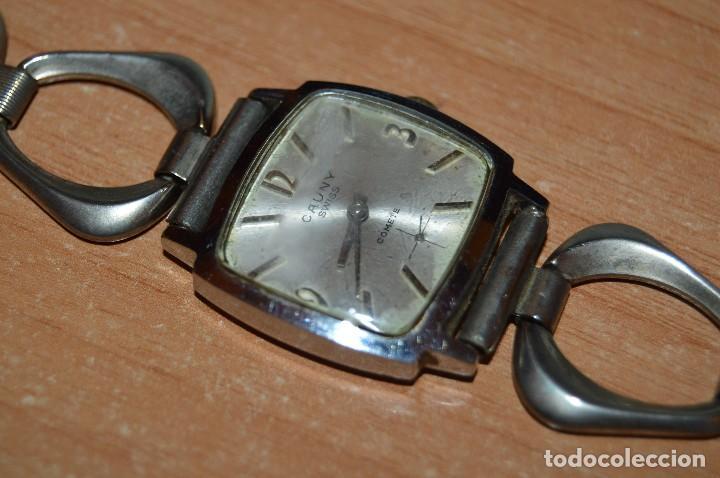 Relojes de pulsera: ANTIGUO - VINTAGE - RELOJ DE PULSERA - CAUNY COMETE - CAJA 28MM - SWISS MADE - HAZ OFERTA - Foto 3 - 113959003