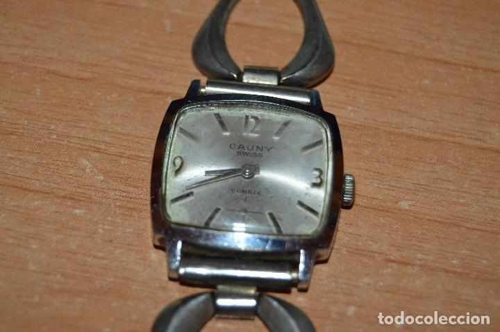 Relojes de pulsera: ANTIGUO - VINTAGE - RELOJ DE PULSERA - CAUNY COMETE - CAJA 28MM - SWISS MADE - HAZ OFERTA - Foto 4 - 113959003