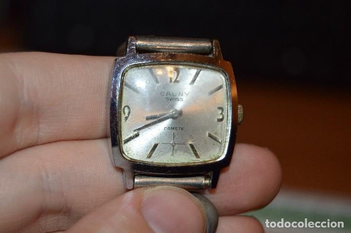 Relojes de pulsera: ANTIGUO - VINTAGE - RELOJ DE PULSERA - CAUNY COMETE - CAJA 28MM - SWISS MADE - HAZ OFERTA - Foto 5 - 113959003