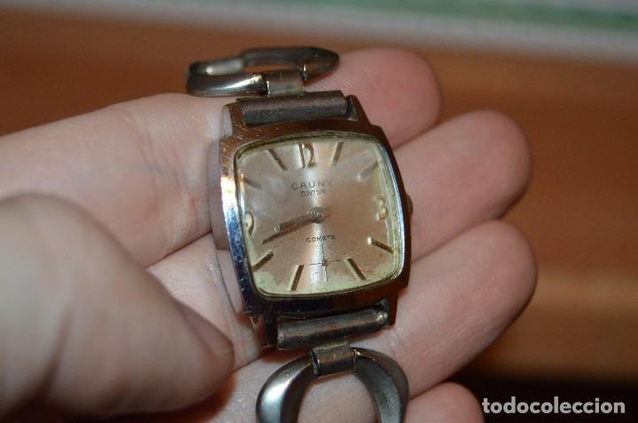 Relojes de pulsera: ANTIGUO - VINTAGE - RELOJ DE PULSERA - CAUNY COMETE - CAJA 28MM - SWISS MADE - HAZ OFERTA - Foto 15 - 113959003