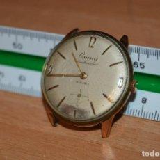 Relojes de pulsera: ANTIGUO - VINTAGE - RELOJ DE PULSERA - CAUNY CENTENARIO DE LUXE - CAJA 34MM - SWISS MADE - HAZ OFERT. Lote 113959479
