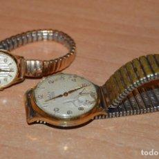 Relojes de pulsera: LOTE 2 DOGMA PRIMA - VINTAGE - RELOJ DE PULSERA - CAJAS DE 37 Y 22MM - SWISS MADE - HAZ OFERT. Lote 127969539
