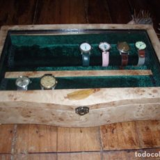 Relojes de pulsera: CAJA DE MADERA PARA 14 RELOJES. Lote 114027751