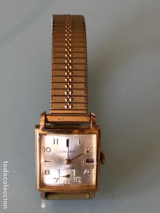 Relojes de pulsera: RELOJ MUJER CAUNY SEGUNDERO Y DIETARIO CAJA CHAPADA ORO CON ARMIS FUNCIONA CORRECTAMENTE AÑOS 40-50 - Foto 2 - 117509339