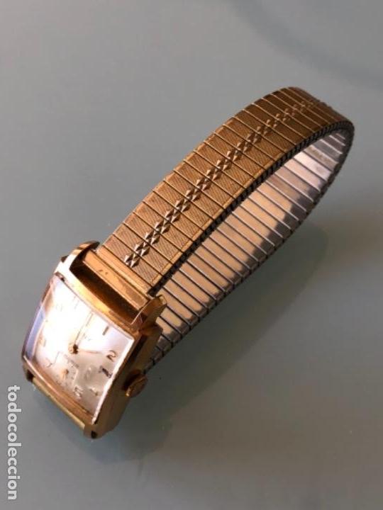 Relojes de pulsera: RELOJ MUJER CAUNY SEGUNDERO Y DIETARIO CAJA CHAPADA ORO CON ARMIS FUNCIONA CORRECTAMENTE AÑOS 40-50 - Foto 3 - 117509339