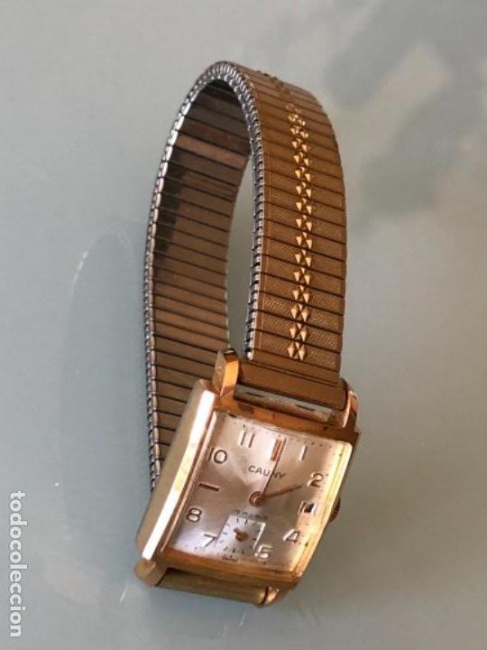 Relojes de pulsera: RELOJ MUJER CAUNY SEGUNDERO Y DIETARIO CAJA CHAPADA ORO CON ARMIS FUNCIONA CORRECTAMENTE AÑOS 40-50 - Foto 4 - 117509339