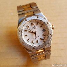 Relojes de pulsera: RELOJ MUJER ROTARY CON CRISTAL DE SAPPHIRE CALENDARIO FUNCIONANDO. Lote 114357539