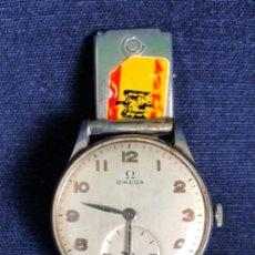 Relojes de pulsera: RELOJ OMEGA METAL CROMADO SEGUNDERO CADETE BISEL 3,3CMS PULSERA METAL NO ORIGINAL. Lote 114376323