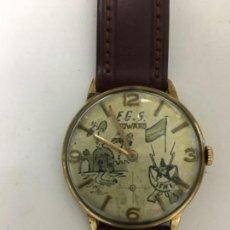Relojes de pulsera: RELOJ DUWARD CARGA MANUAL CAJA CHAPADA ORO CON ESFERA PERSONALIZADA. Lote 114611903