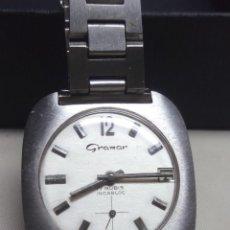 Relojes de pulsera: RELOJ GRAMAR DE ACERO, DE CARGA MANUAL. Lote 114628311