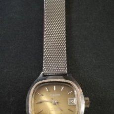 Relojes de pulsera: ANTIGUO RELOJ DE PULSERA DE MUJER MARCA CANON A CUERDA Y CALENDARIO PERPETUO. VINTAGE. Lote 114742695