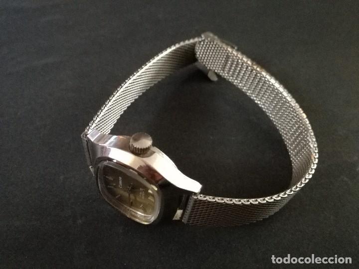 Relojes de pulsera: Antiguo reloj de pulsera de mujer marca canon a cuerda y calendario perpetuo. Vintage - Foto 6 - 114742695
