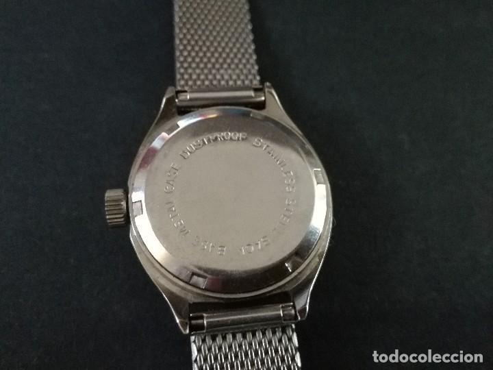 Relojes de pulsera: Antiguo reloj de pulsera de mujer marca canon a cuerda y calendario perpetuo. Vintage - Foto 7 - 114742695