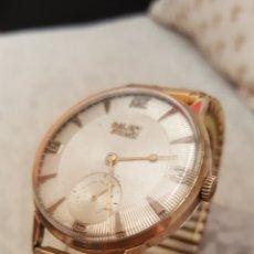 Relojes de pulsera: RELOJ SWSS CAUNY.PRIMA 15RUVIS LACHAUNX DE FONDS ANCRE CHAPADO 10MICRAS ORO DE CUERDA. Lote 114825675