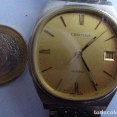 Relojes de pulsera: ANTIGUO (AÑOS 80) Y BONITO RELOJ CABALLERO A PILA --CERTINA--COMPLETO BUEN ESTADO Y FUNCIONANDO. Lote 114863807