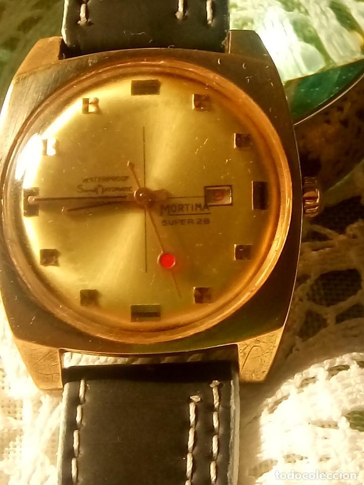 Relojes de pulsera: RELOJ MORTIMA SUPER 28. FUNCIONANDO. 35 MM. S/C. AÑOS 80. DESCRIP. Y FOTOS. - Foto 2 - 115351451