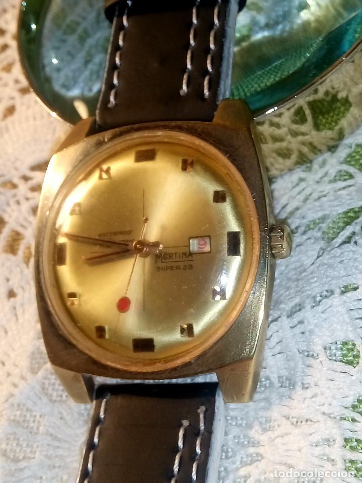 Relojes de pulsera: RELOJ MORTIMA SUPER 28. FUNCIONANDO. 35 MM. S/C. AÑOS 80. DESCRIP. Y FOTOS. - Foto 6 - 115351451