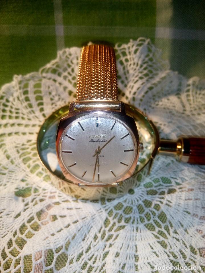 Relojes de pulsera: DUWARD DIPLOMATIC. AÑOS 70. MANUAL.P. ORO 10 M. FUNCIONANDO. MAGNIFICO ESTADO. 34.5 S/C. FOTOS DIVER - Foto 2 - 115393571