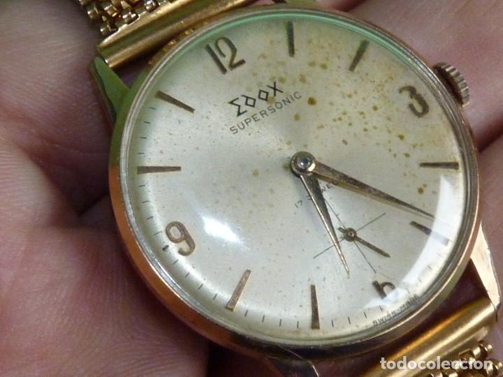 Relojes de pulsera: Fantastico reloj Edox Supersonic raro swiss made calibre AS1130 años 50 17 rubis correa extensible - Foto 2 - 116472207