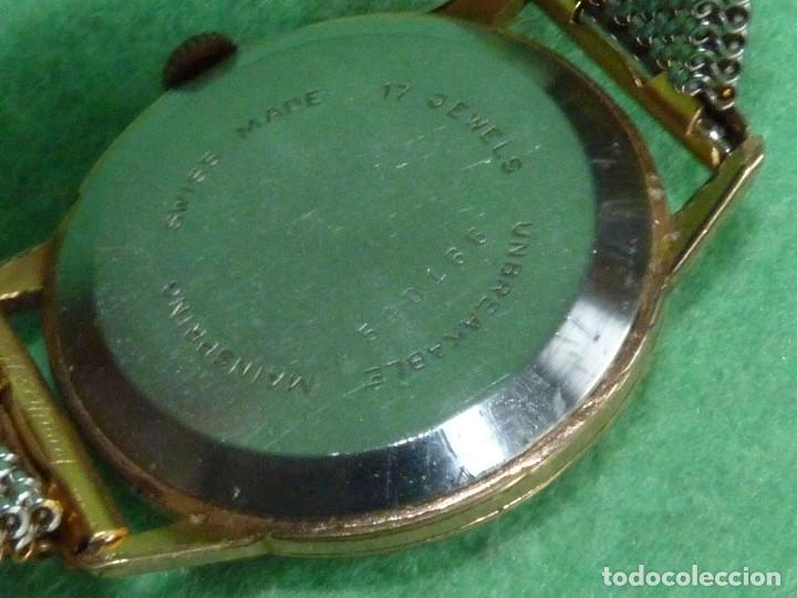 Relojes de pulsera: Fantastico reloj Edox Supersonic raro swiss made calibre AS1130 años 50 17 rubis correa extensible - Foto 5 - 116472207