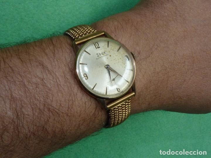 Relojes de pulsera: Fantastico reloj Edox Supersonic raro swiss made calibre AS1130 años 50 17 rubis correa extensible - Foto 6 - 116472207