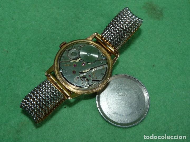 Relojes de pulsera: Fantastico reloj Edox Supersonic raro swiss made calibre AS1130 años 50 17 rubis correa extensible - Foto 7 - 116472207