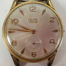 Relojes de pulsera: RELOJ DE PULSERA CAUNY PRIMA. 15 RUBIS. CHAPADO EN ORO 10M. CIRCA 1950. . Lote 116508971
