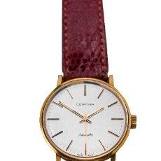 Relojes de pulsera: ELEGANTE RELOJ DE PULSERA SUIZO, ORO 18 QUILATES, DE CUERDA MANUAL Y FUNCIONANDO, MARCA CERTINA 1970. Lote 116603551