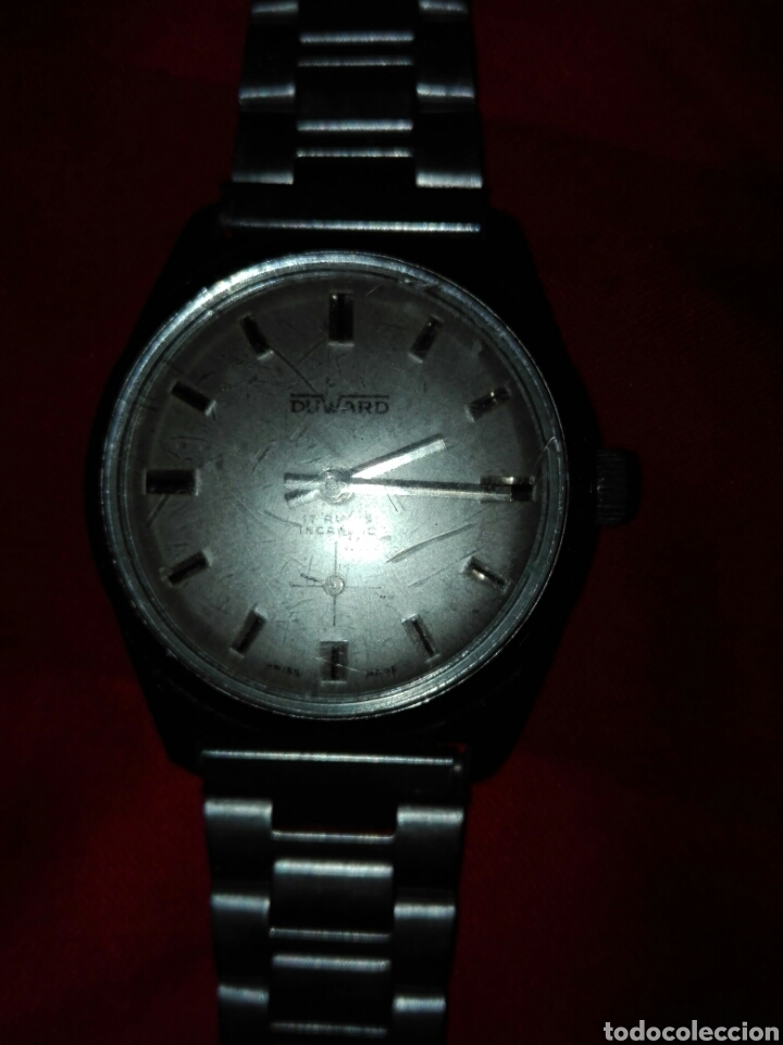 Relojes de pulsera: Reloj duward incabloc 17 rubis cuerda - Foto 2 - 116649196