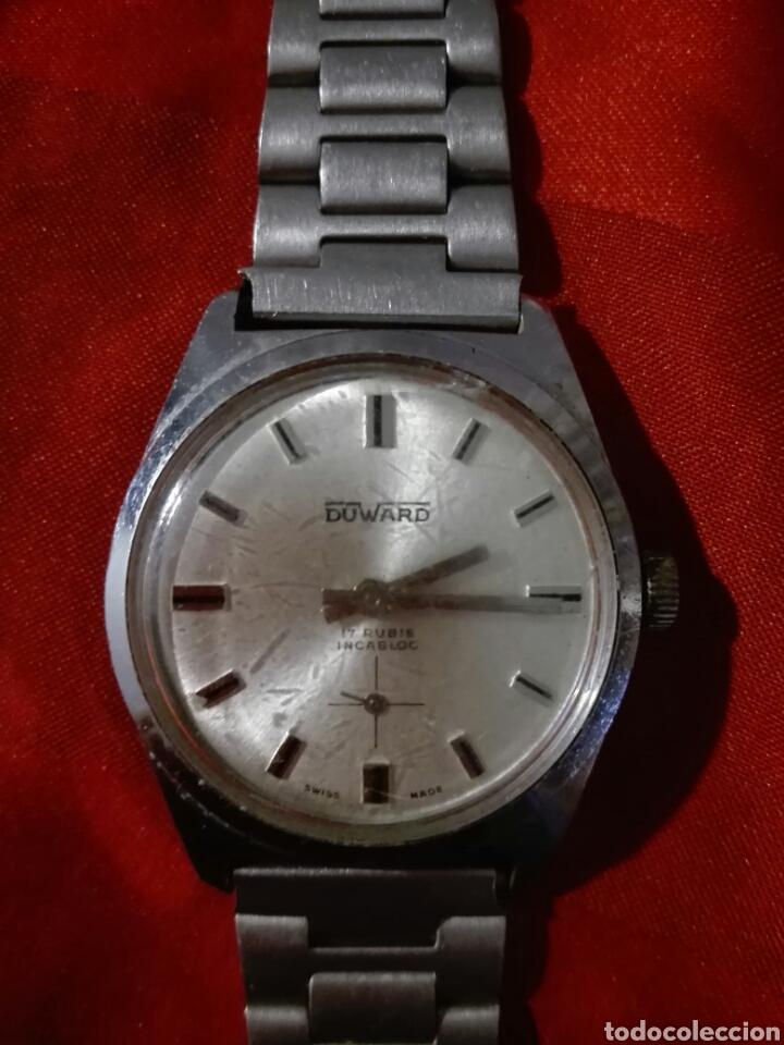 Relojes de pulsera: Reloj duward incabloc 17 rubis cuerda - Foto 4 - 116649196