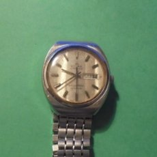 Relojes de pulsera: ANTIGUO RELOJ CYMA BY SYNCHRON CONQUISTADOR AUTOMATIC CAJA DE ACERO CON SU CADENA ORIGINAL . Lote 117191155