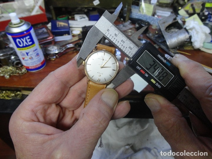 Relojes de pulsera: RELOJ CUERDA MANUAL CABALLERO CYMA - CYMAFLEX - ORO. - Foto 9 - 117116907