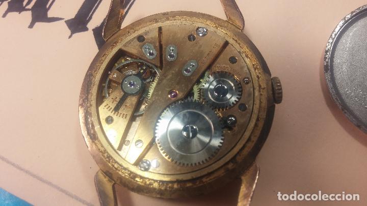 Relojes de pulsera: Muy antiguo reloj de cuerda ARCADIA, grande, para reparar o piezas, muy botito - Foto 9 - 117393943