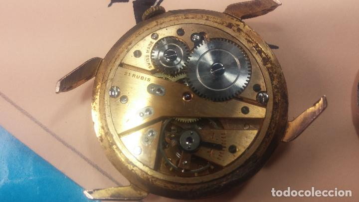 Relojes de pulsera: Muy antiguo reloj de cuerda ARCADIA, grande, para reparar o piezas, muy botito - Foto 11 - 117393943
