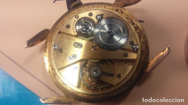 Relojes de pulsera: Muy antiguo reloj de cuerda ARCADIA, grande, para reparar o piezas, muy botito - Foto 12 - 117393943