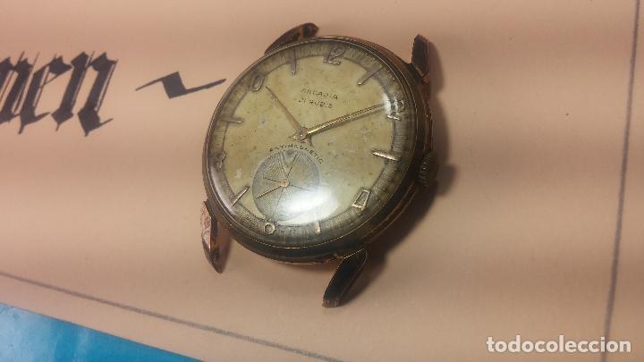 Relojes de pulsera: Muy antiguo reloj de cuerda ARCADIA, grande, para reparar o piezas, muy botito - Foto 20 - 117393943