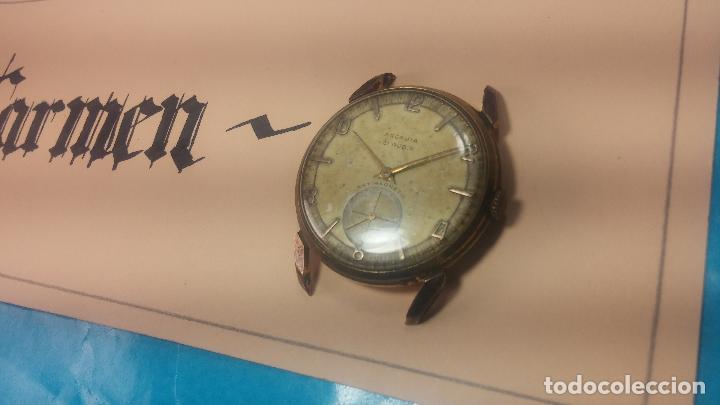 Relojes de pulsera: Muy antiguo reloj de cuerda ARCADIA, grande, para reparar o piezas, muy botito - Foto 24 - 117393943